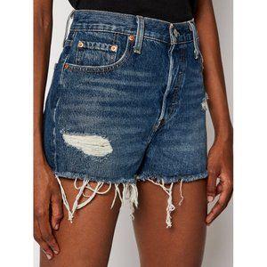 New Levi's 501 High Rise Cutoff Denim Shorts